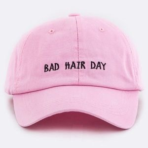 "WILA Pink & Black ""Bad Hair Day"" Baseball Hat"